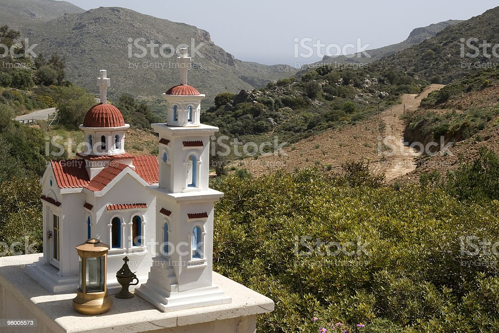 Typical greek small road shrine - Crete royalty-free stock photo