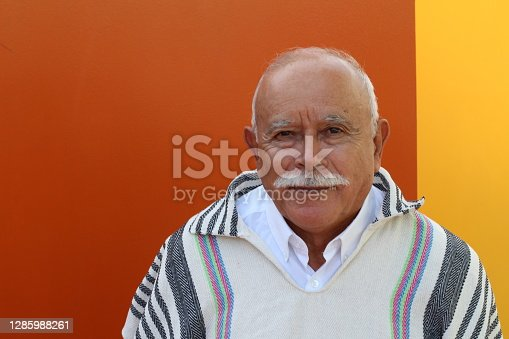 Typical Hispanic Senior man portrait.