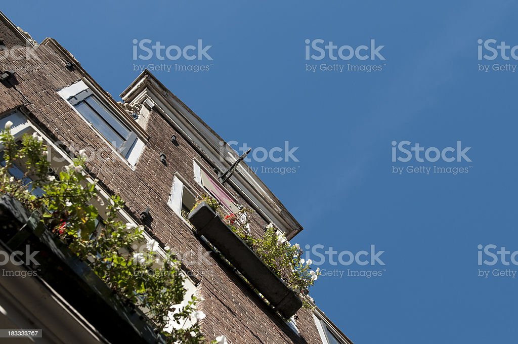Typical house in Amsterdam. stock photo
