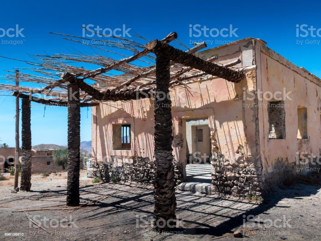 Typical house in Eritrea.Shepherd's house stock photo