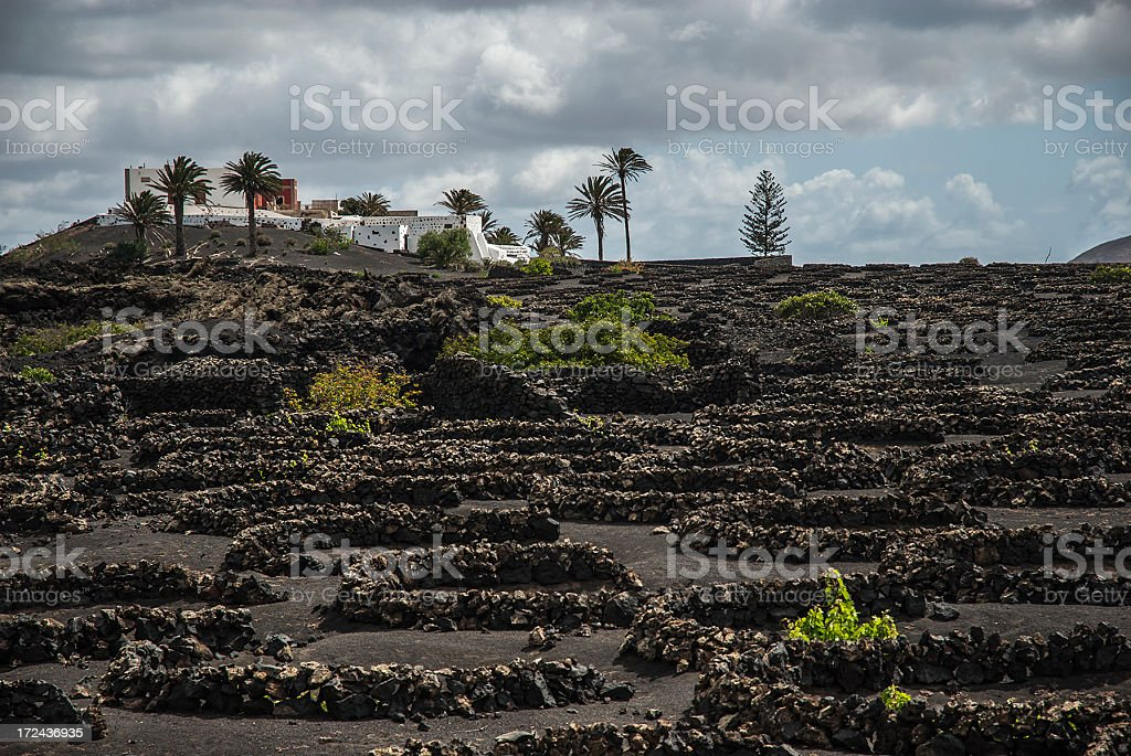 Typical house in Lanzarote royalty-free stock photo