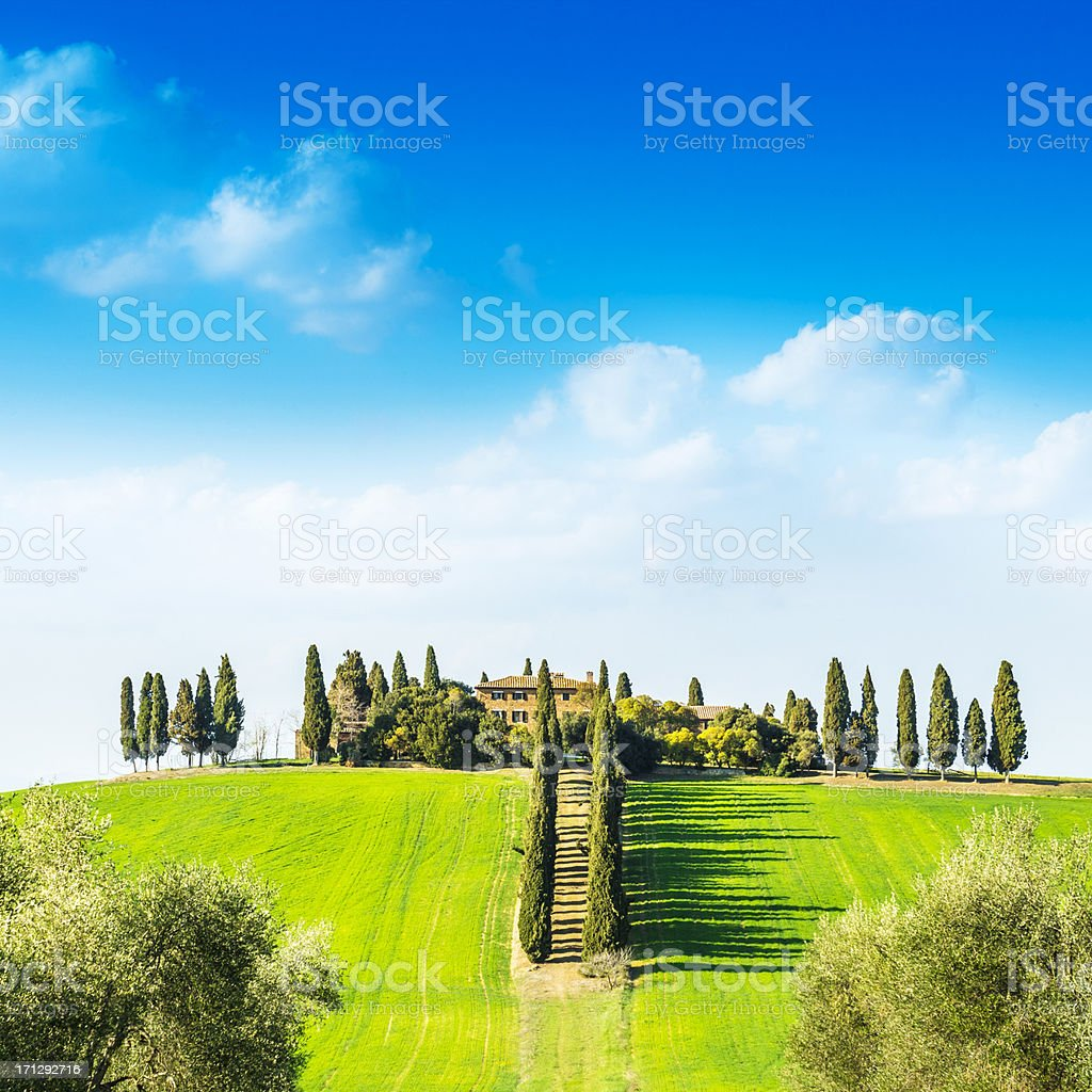 Typical house in Tuscany royalty-free stock photo