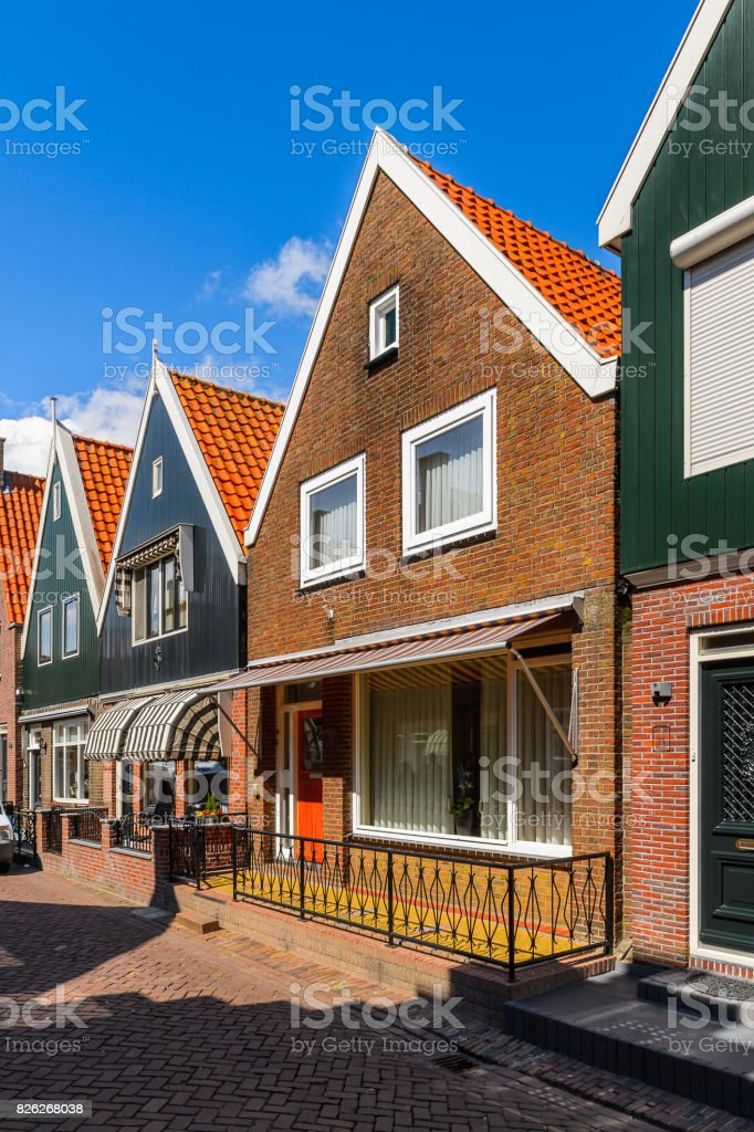 Typical house in Volendam, North Holland, Netherlands stock photo