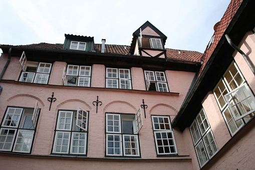 Typical houses in Lubeck, Germany
