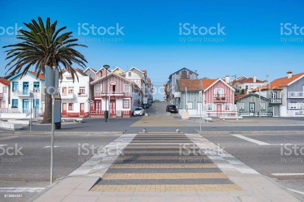 Casas típicas de Aveiro - foto de stock