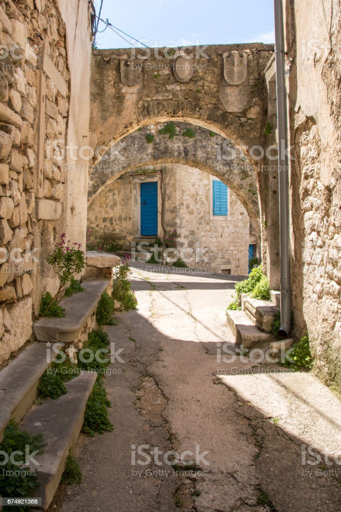Typical istrian architecture royalty-free stock photo