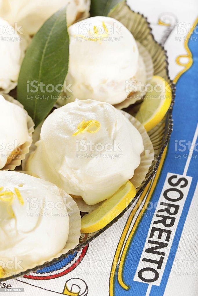 Typical italian lemon dessert from Sorrento stock photo