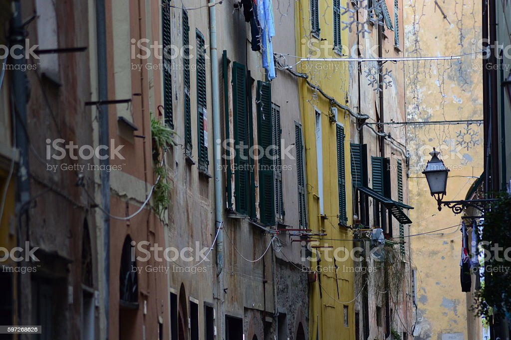 Typical Italian narrow street Lizenzfreies stock-foto