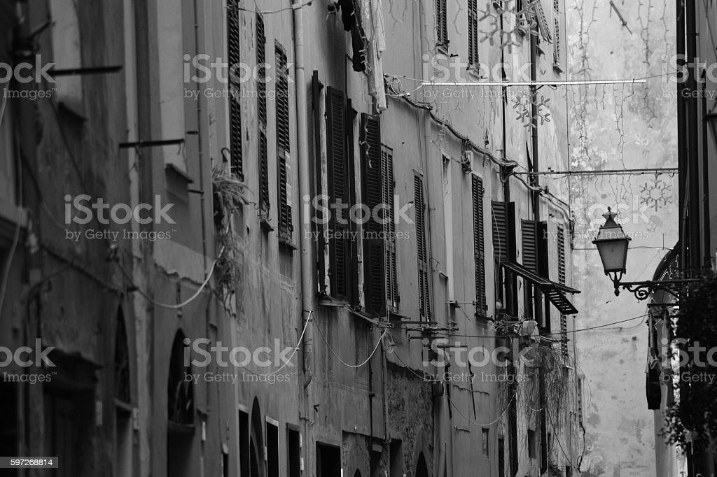 Typical Italian narrow street Lizenzfreies stock-foto