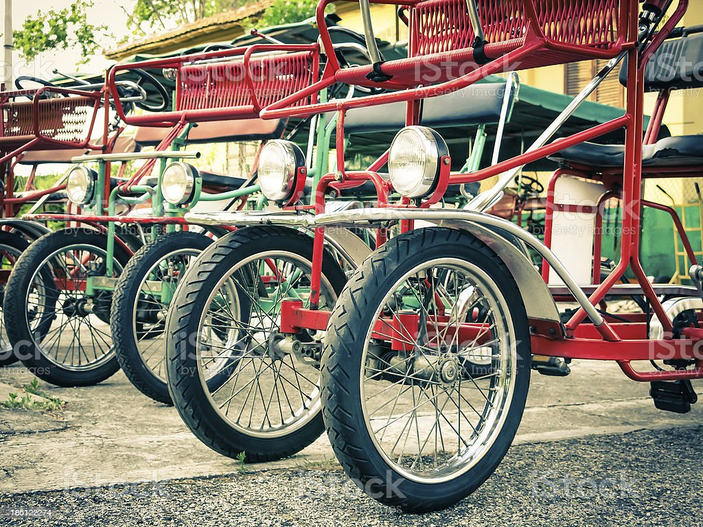 Typical Italian Rickshaws royalty-free stock photo