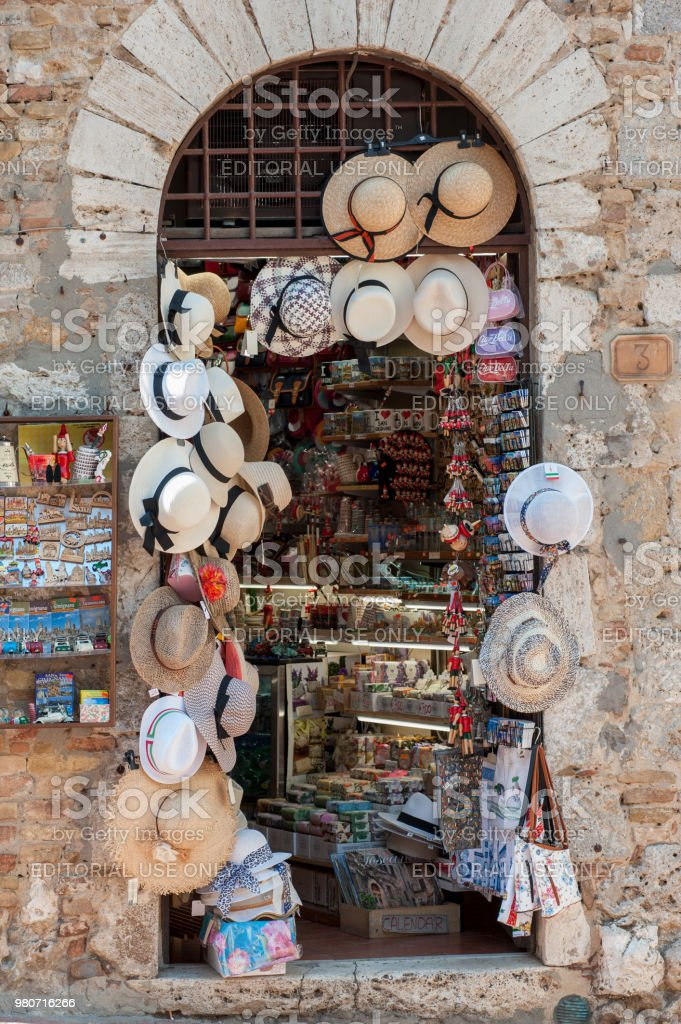 Typical Italian Straw Sun Hats Exposed For Sale Stock Photo   More ... 143897464c2b