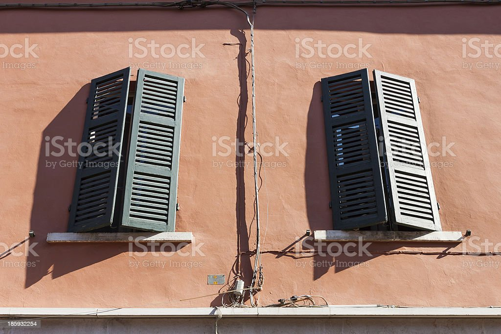 Typical italian window royalty-free stock photo
