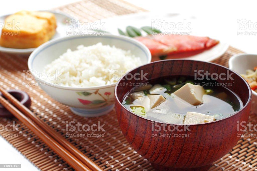 伝統的な和食の朝食の ストックフォト