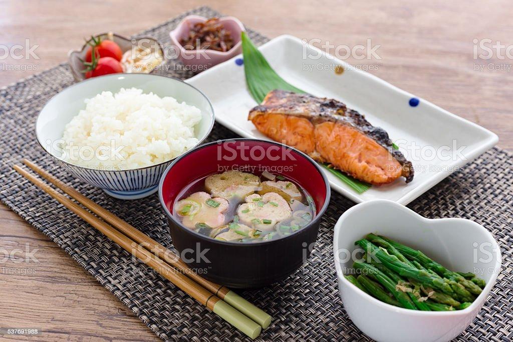 伝統的な和食の朝食の画像 ストックフォト