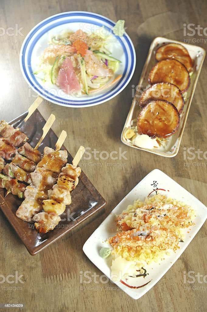 typical japanese food royalty-free stock photo