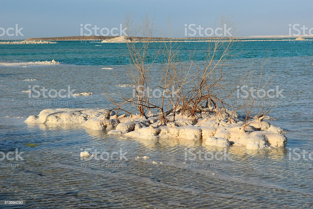 typical landscape of the dead sea, Israel stock photo