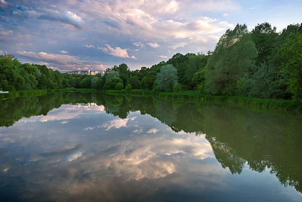 Typische Landschaft mit See – Foto