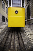 Typical Lisbon tram, old city of Portugal