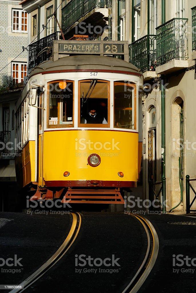 Typical Lisbon tram royalty-free stock photo
