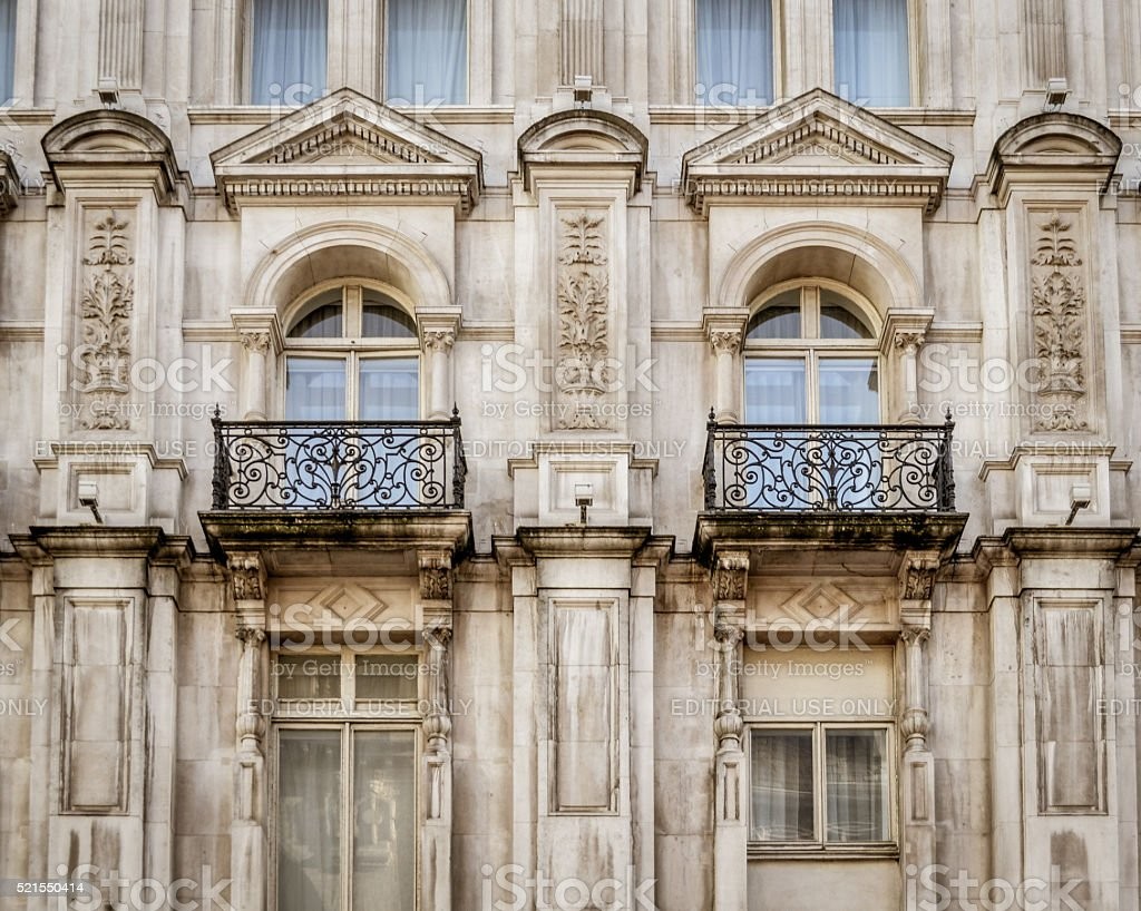 Typical London Victorian architecture stock photo