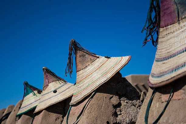 Typical Malian hats. stock photo