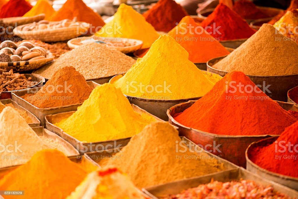 typical maroc spices stock photo