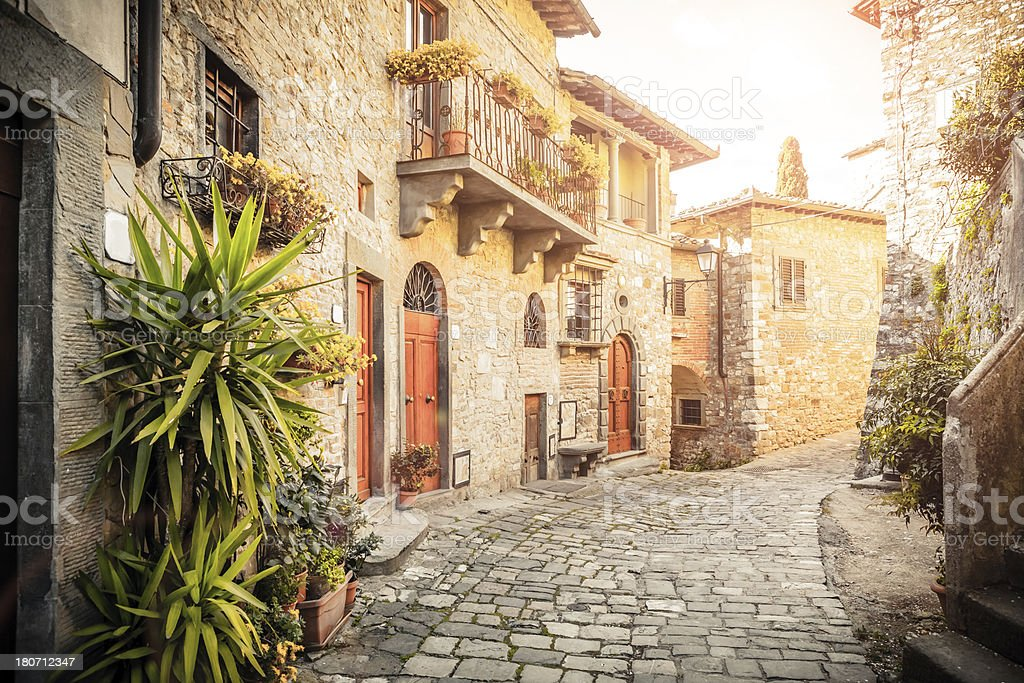 Typical Medieval Town in Italy stock photo