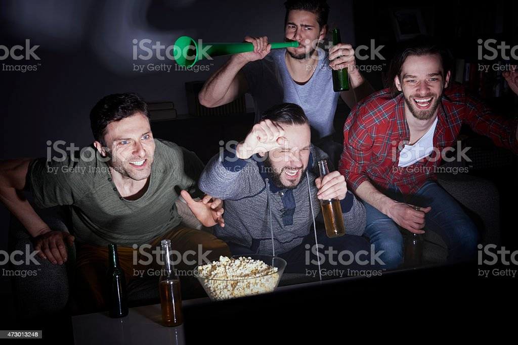 Typical meeting group of men stock photo