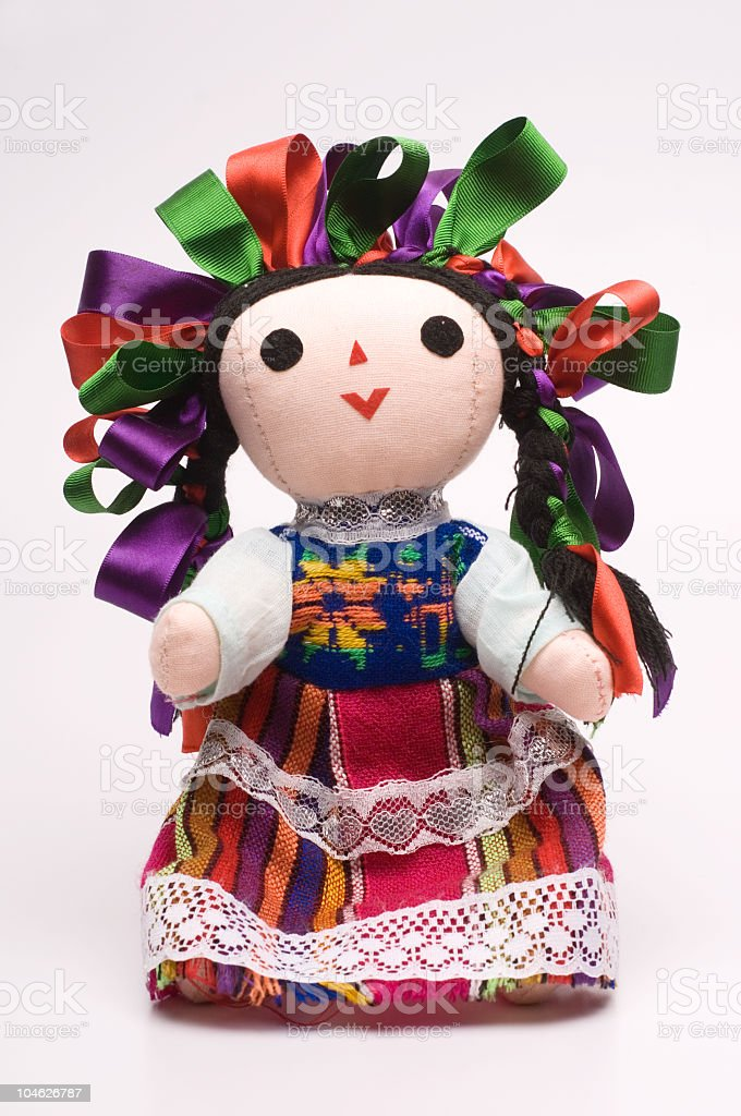 Typical mexican doll stock photo