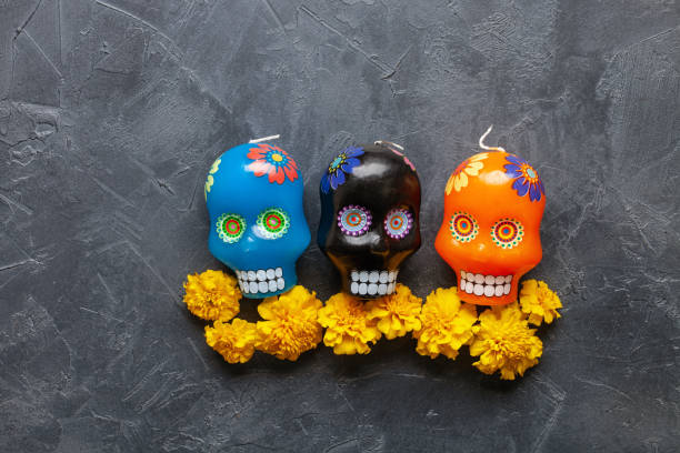 Typical mexican skull painted candles on grey background dia de los picture id1282076096?b=1&k=6&m=1282076096&s=612x612&w=0&h=i ywqsqwis5vlmbcaw6tnbfxbvn8ay9tejanxu8t3h8=