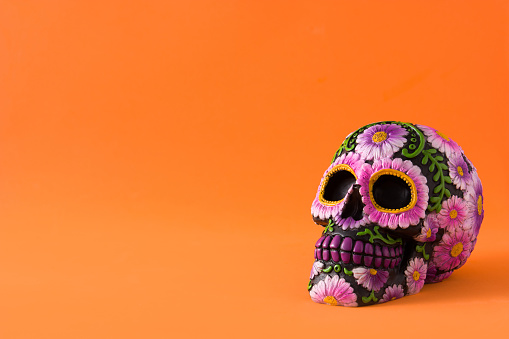 Typical Mexican skull painted