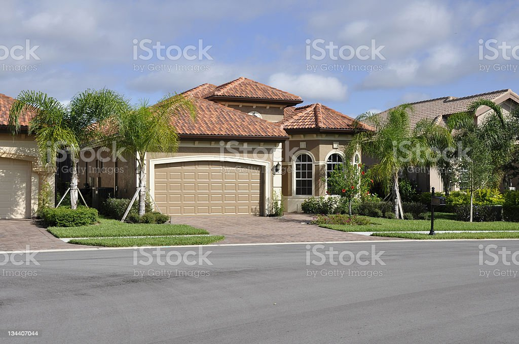 typical modern home in Florida stock photo