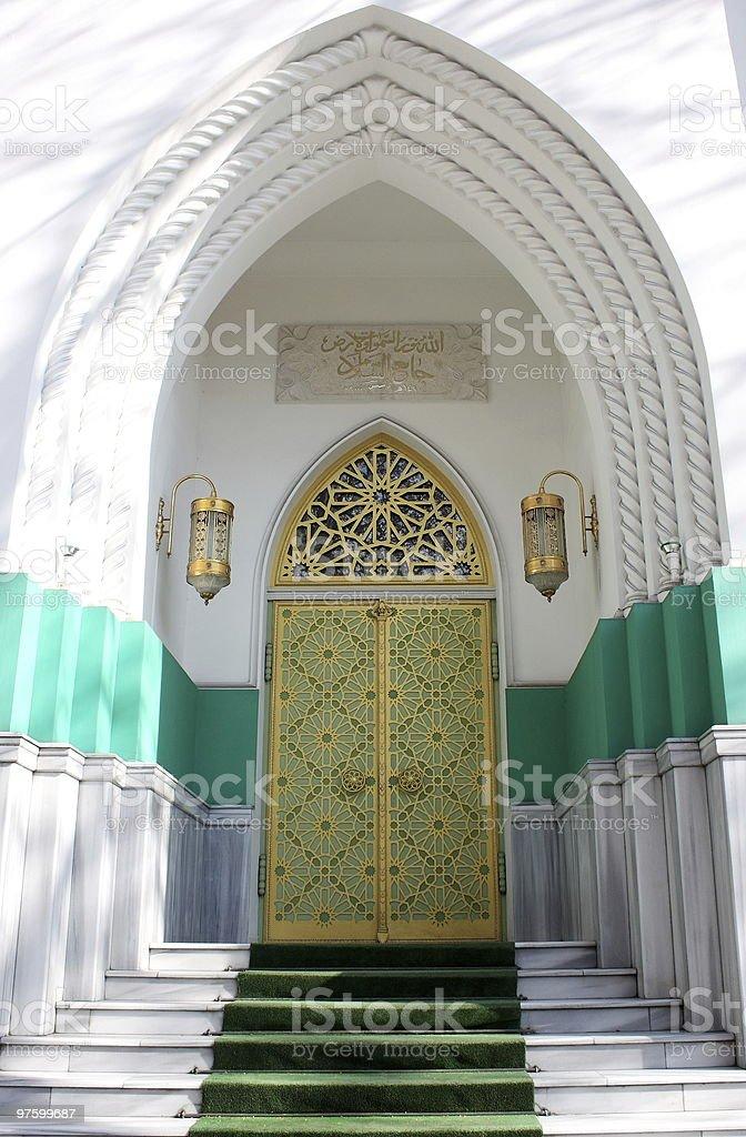Mosquée entrée typique photo libre de droits