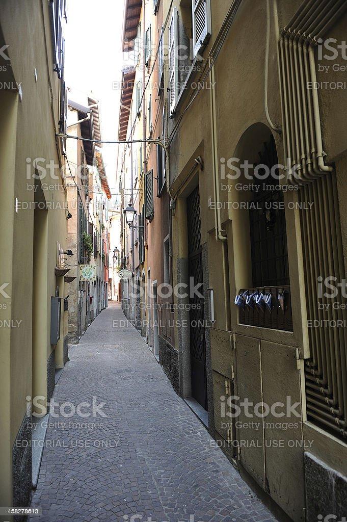 Typical narrow street in Italian town royalty-free stock photo