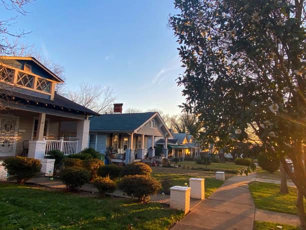 Typical North Carolina houses stock photo