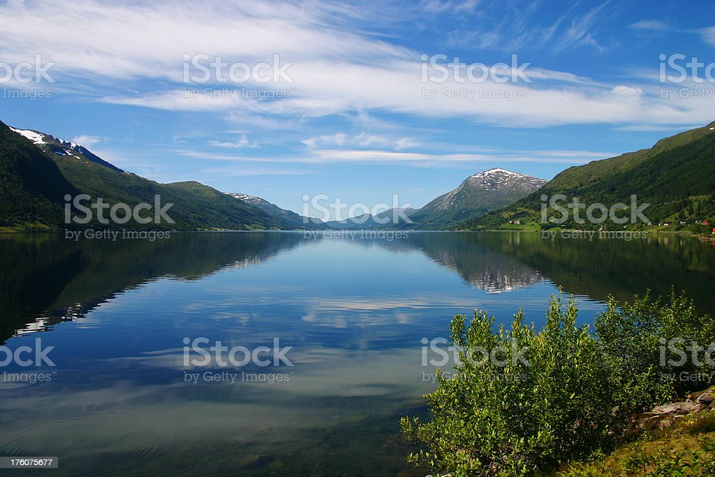 Typical norwegian lake royalty-free stock photo