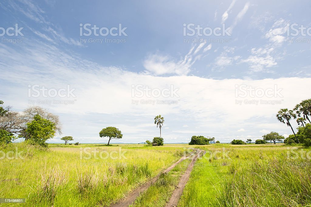 Typical offroad piste rural Africa stock photo