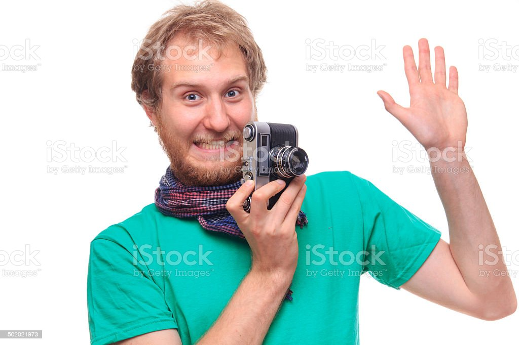 Typical photographer royalty-free stock photo