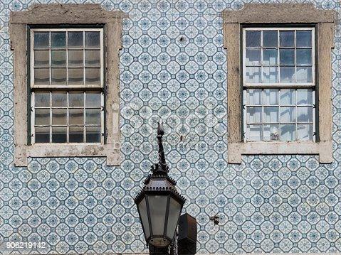istock Typical Portuguese Architecture: Tile Azulejos Windows - Portugal 906219142