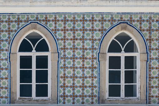 Typical Portuguese Architecture: Tile Azulejos Windows - Portugal