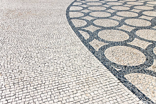 Typical Portuguese floor (Portugal - Europe) stock photo