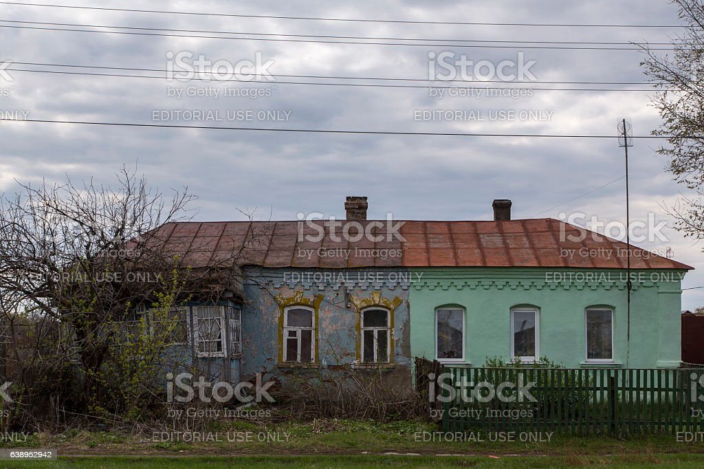 Typical Russian country house. stock photo