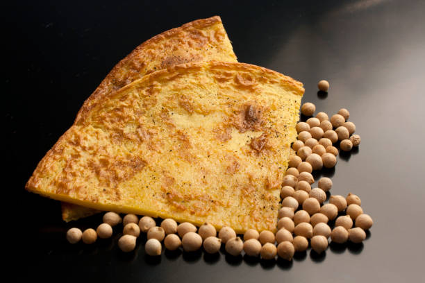 Typical salted cake with chickpeas flour Chickpeas cake farinata stock pictures, royalty-free photos & images