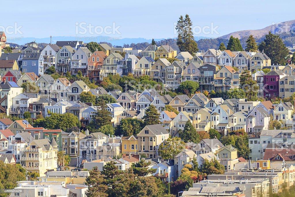 Typical San Francisco Neighborhood, California stock photo