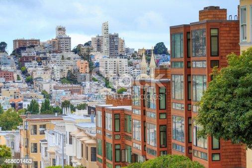 istock Typical San Francisco Neighborhood, California 468601463