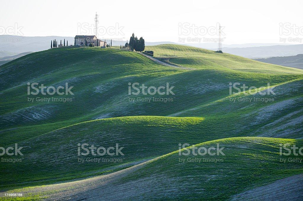Typical shapes of Crete Senesi landscape in Tuscany, Italy royalty-free stock photo