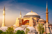 A typical shot of the Hagia Sophia Aya Sofya with a pristine blue sky as its background.