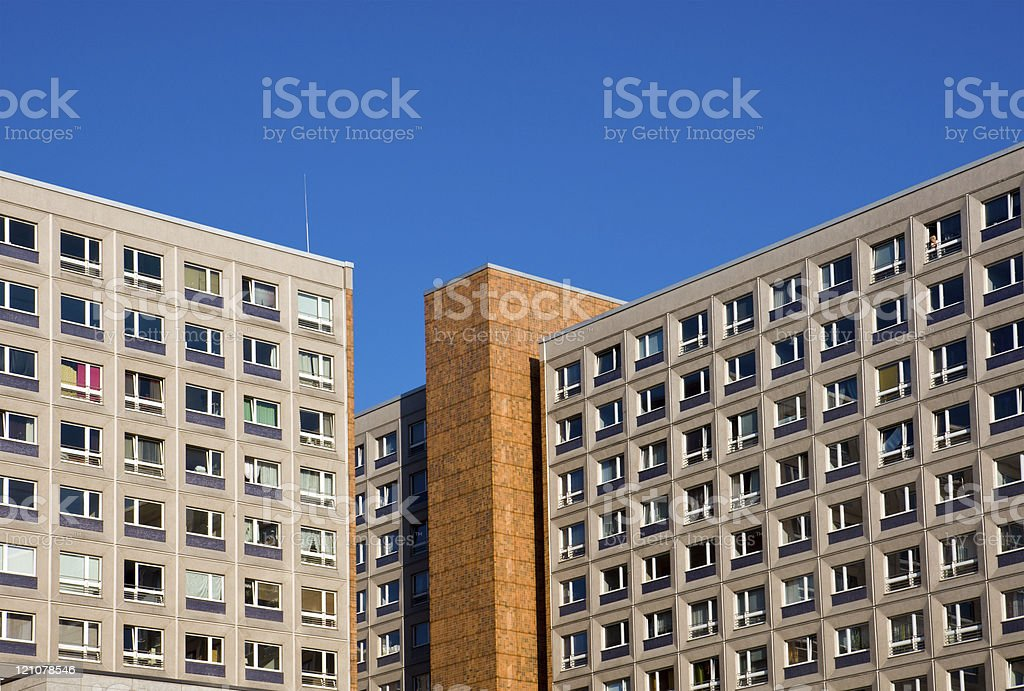Typical socialistic building in Berlin royalty-free stock photo