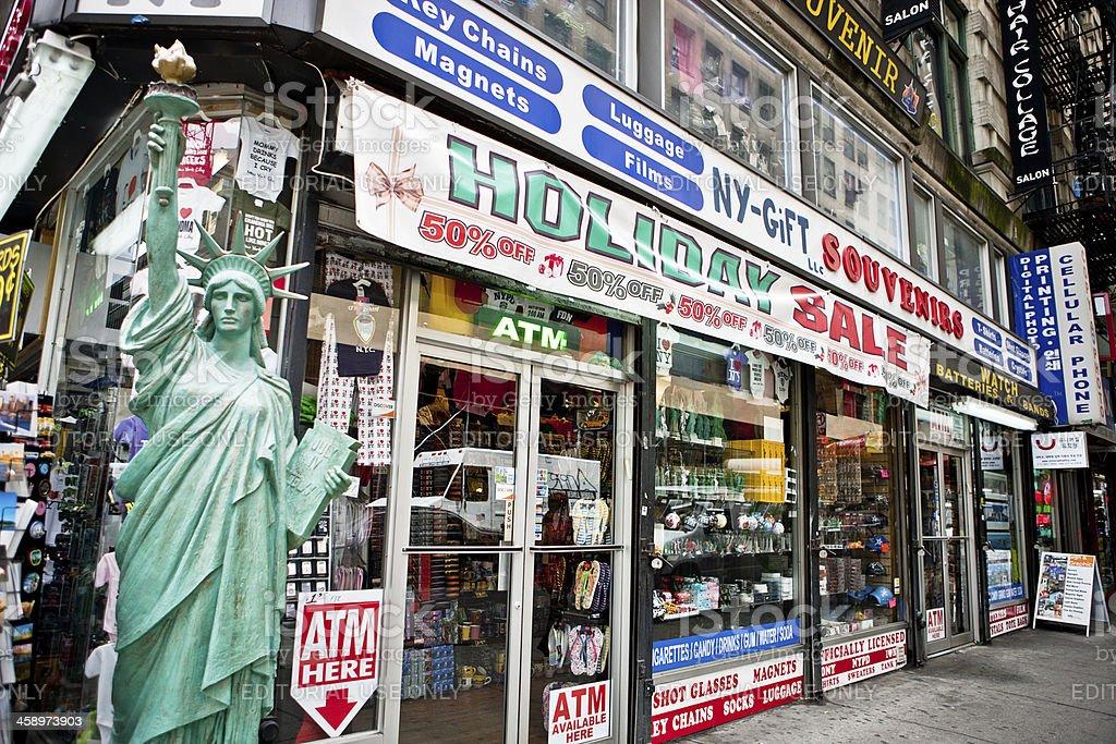 Typical Souvenir Shop in New York, USA stock photo