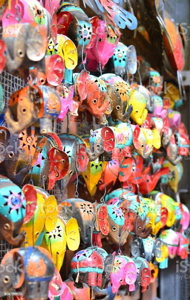 Typical Souvenirs And Handicrafts Of Bali At The Famous Ubud Market